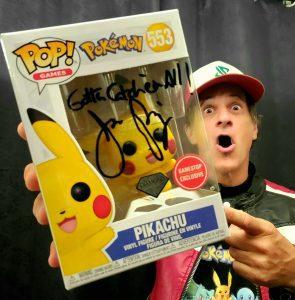 Jason Paige Autographed Diamond PIkachu Funko Pop