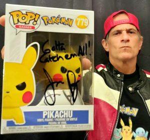 Jason Paige Autographed PIkachu Funko Pop