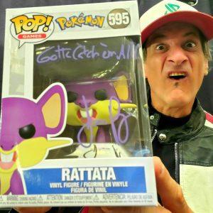Jason Paige Autographed Rattata Funko Pop