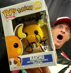 Jason Paige Autographed Raichu Funko Pop